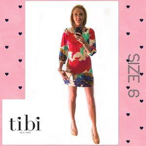 Tibi New York Floral Dress EUC Size 6 Retail $395